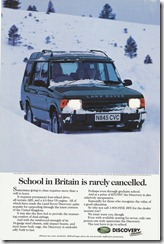 School in Britain is rarely cancelled.