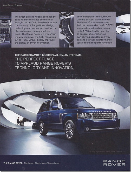 The Perfect Place to Applaud Range Rover's Technology and Innovation