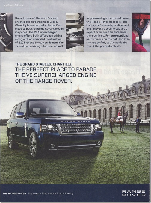 The Perfect Place to Parade the V8 Supercharged Engine of the Range Rover
