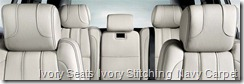 Ivory Seats  Ivory Stitching  Navy Carpet
