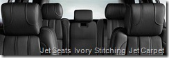 Jet Seats  Ivory Stitching  Jet Carpet