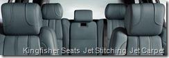 Kingfisher Seats  Jet Stitching  Jet Carpet