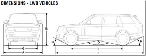 range rover interior dimensions