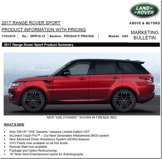 North American Market Ovalnews Com Always Fanatical Occasionally Interesting Land Rover Range Rover News