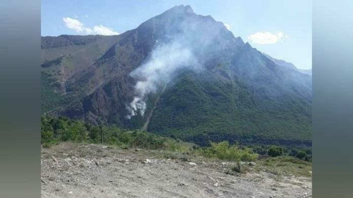 Pülümür'de Harşi ile Zımak köyü arasında orman yangını