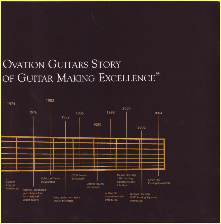 Ovation 2006 40Th Anniversary Booklet