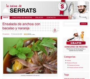El blog La Cocina de Serrats