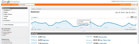 Google Analytics - Crear notas