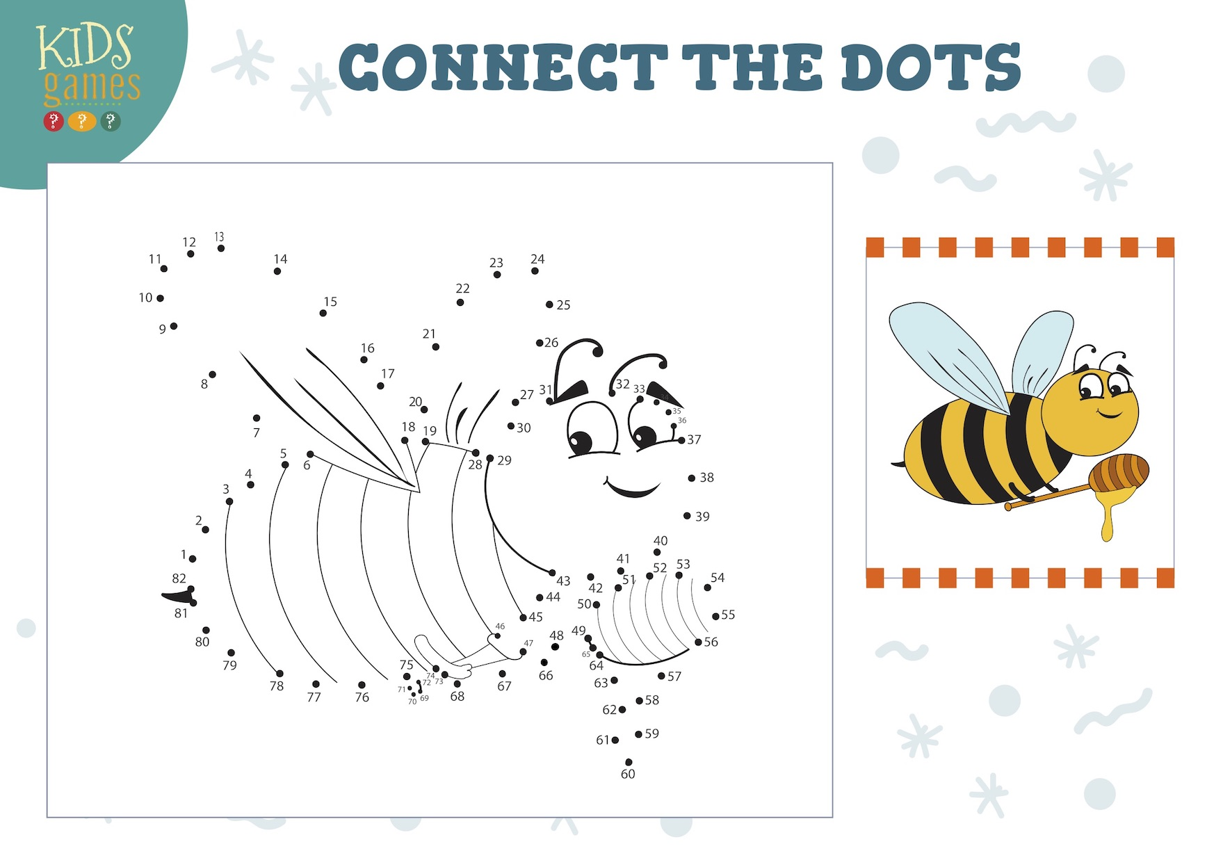 Honey Bee Dot To Dot