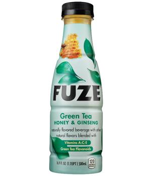 FUZE Green Tea HONEY GINSENG Over Caffeinated