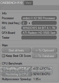 Cinebench R10 at 4133 MHz