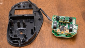 PCB assembly removed