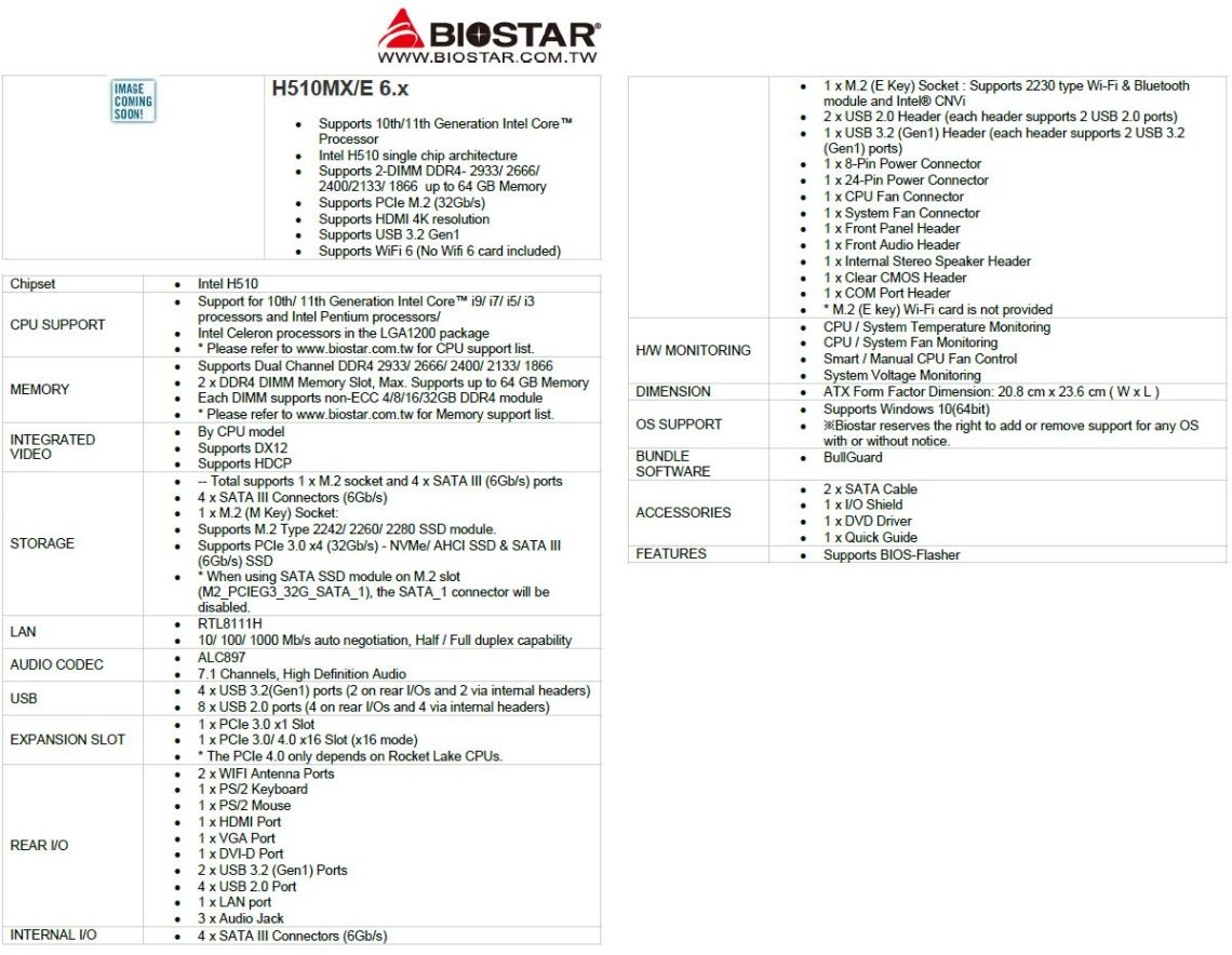 Biostar H510
