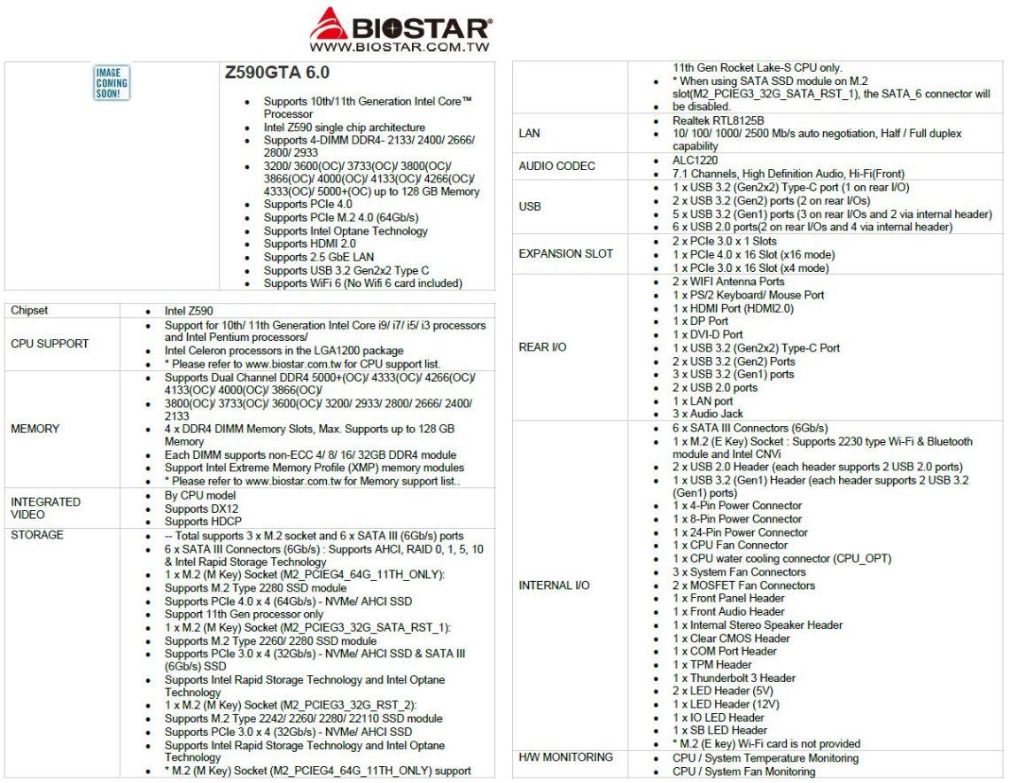Biostar Z590