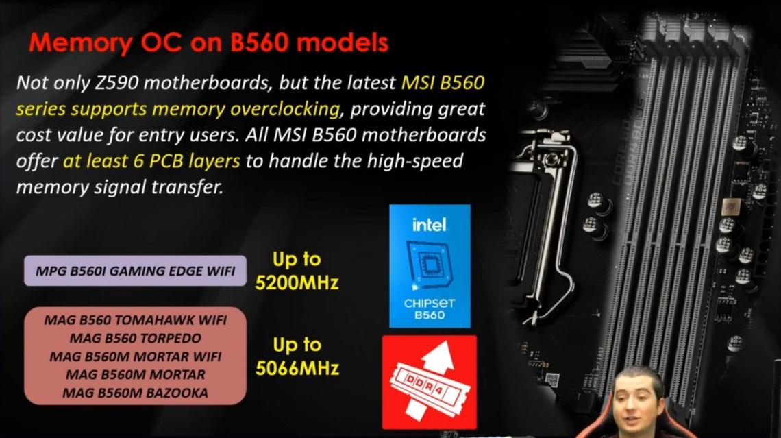 Платы MSI H510 и B560