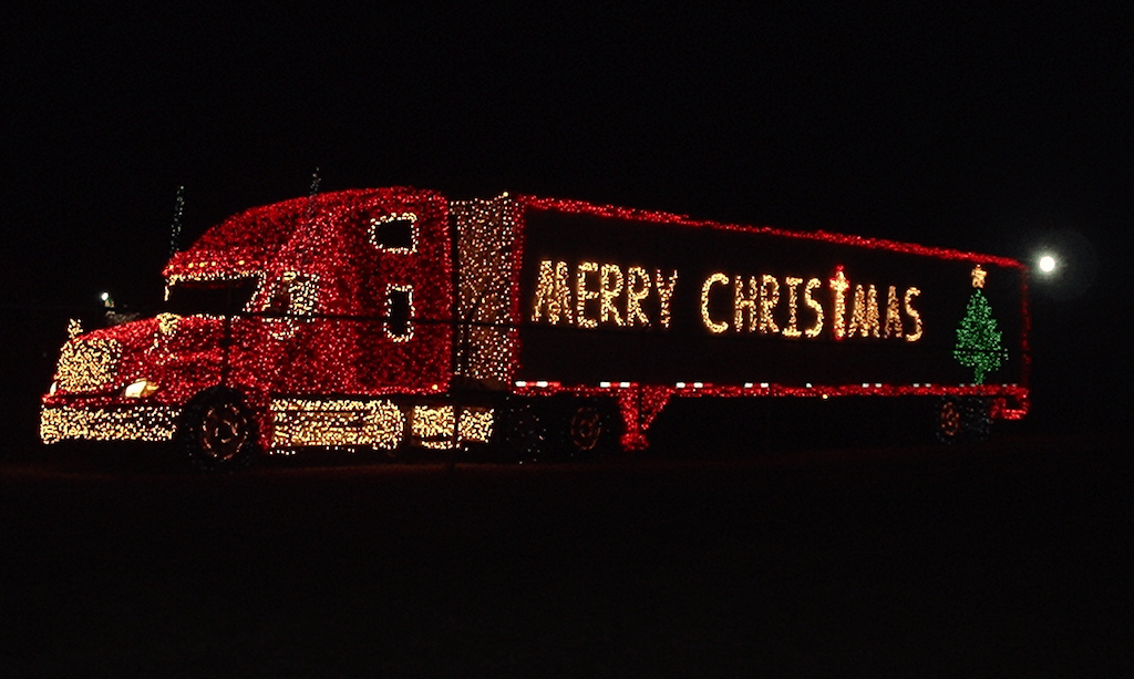 Tis The Season Trucks Decked With Christmas Lights