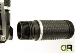 Moddoolar TL Cell Tube (50mm striped) - Black HA