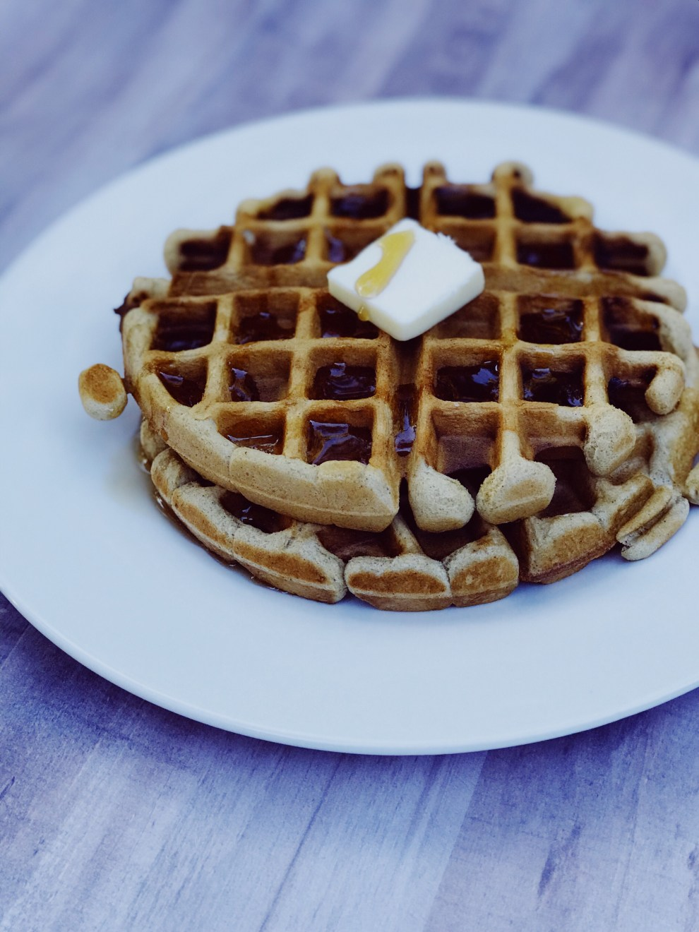 apple butter spiced waffles