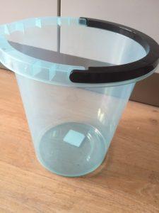 blauwe emmer 5 liter