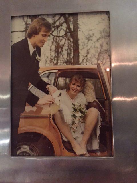 Trouwdag in december 1980