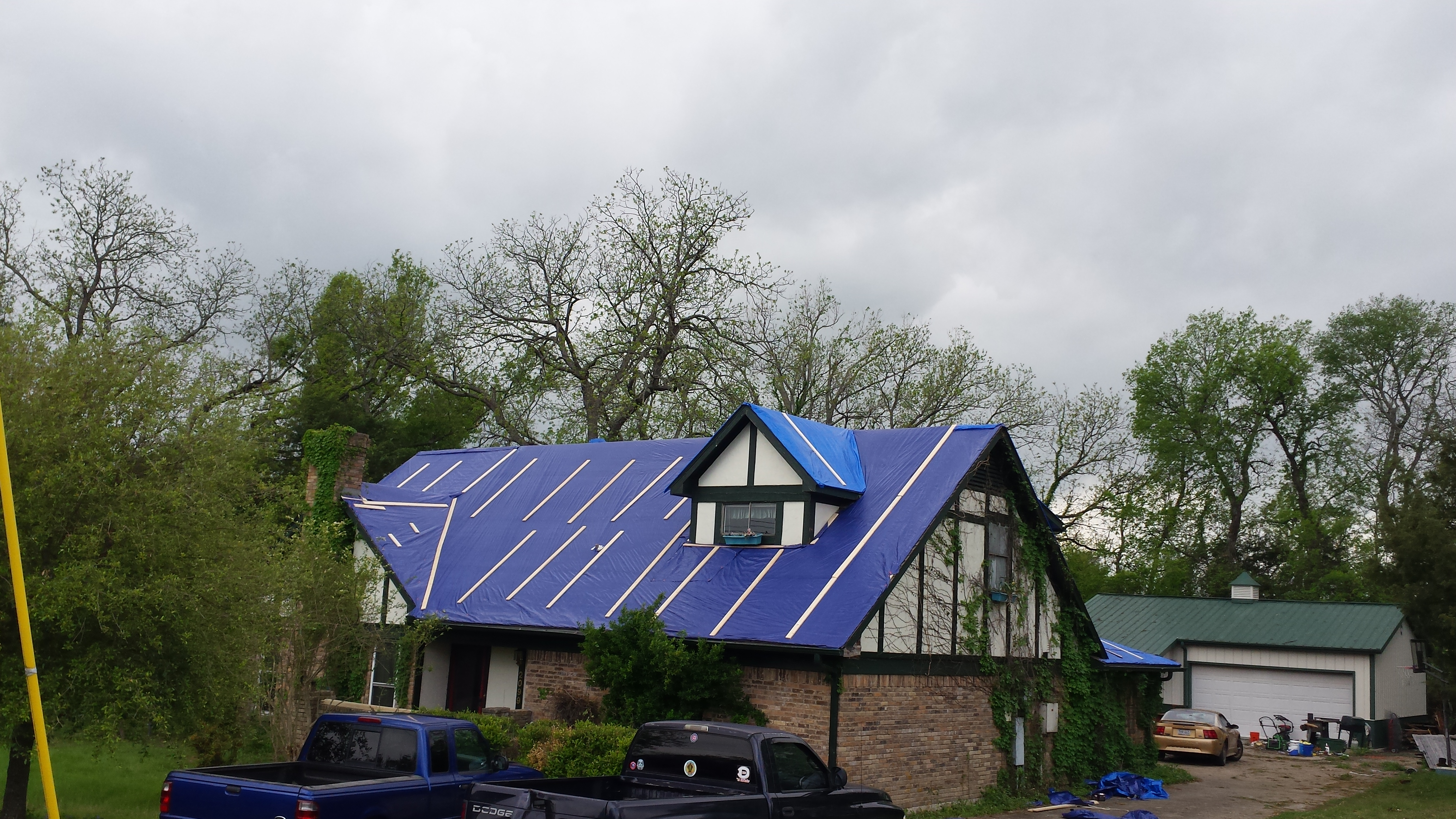 How To Tarp A Hail Damaged Roof