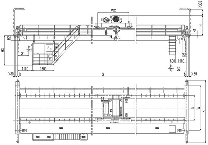 double girder overhead crane drawing demag hoist wiring diagram efcaviation com overhead crane wiring diagram pdf at n-0.co