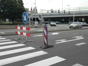 Op eenvoudige wijze was de toegang tot de A12 afgesloten