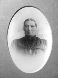 Maria van Rutte, die de huizen liet bouwen