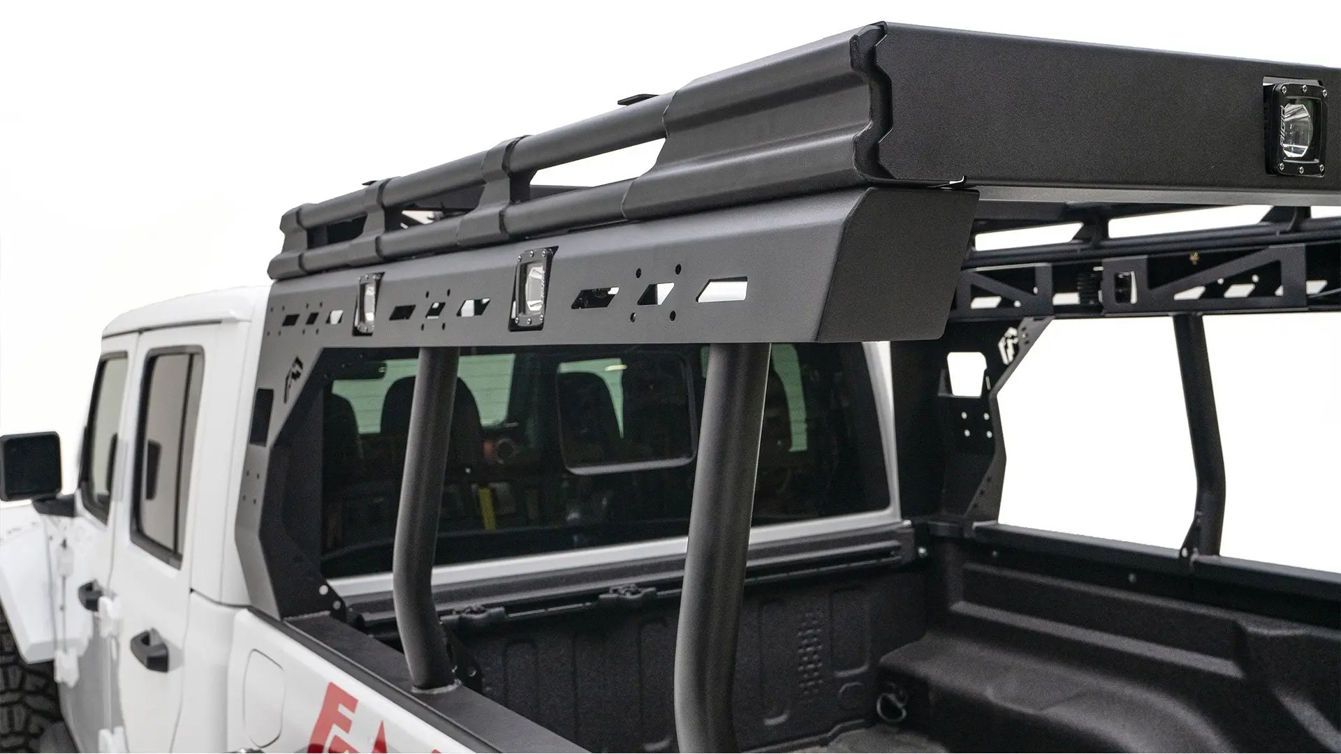 2020 jeep gladiator jt overland bed rack by fab fours