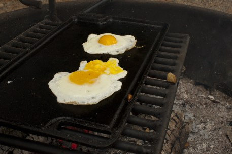 Fire fried Eggs!
