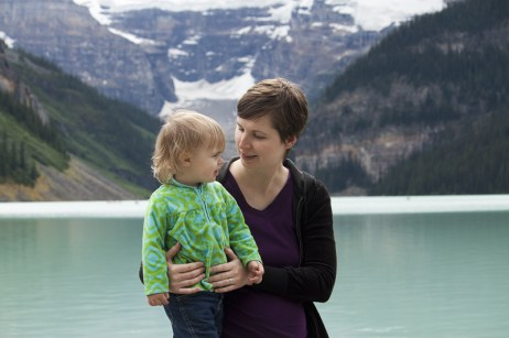 Lake Louise with Mother & Daughter
