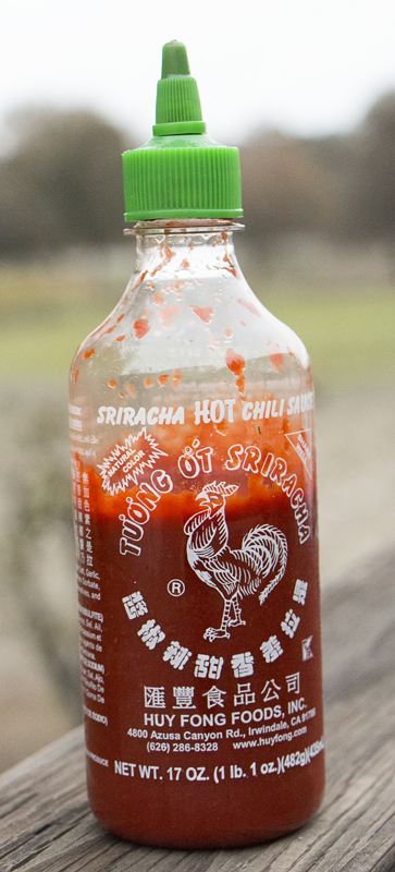 Sriracha - Simply the best pepper sauce on earth. I put it on everything because it works on everything (even Ice Cream)