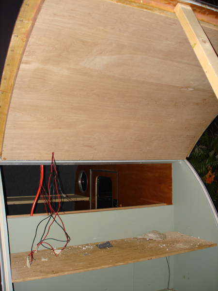 A quick shot of the galley hatch skinned