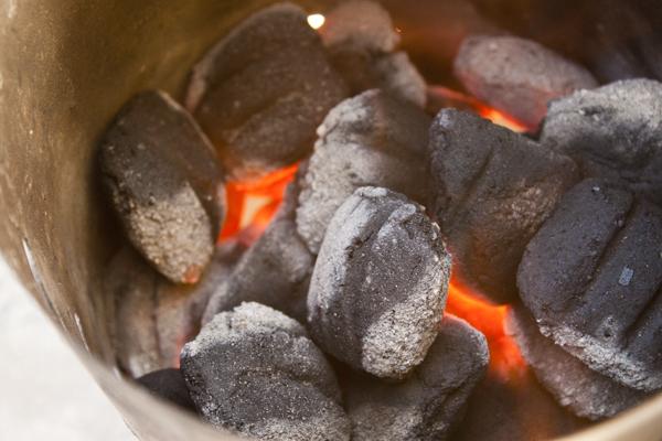Cooked over coals