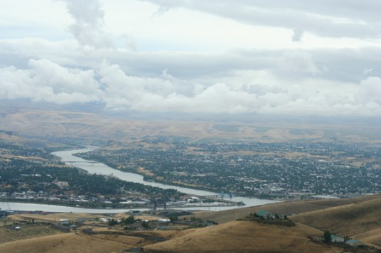 Lewiston, ID as we drove down to it