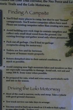 Road Descriptions & camping info