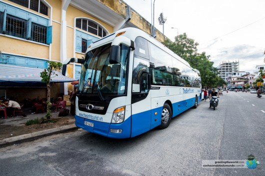 Sleeper bus in Vietnam