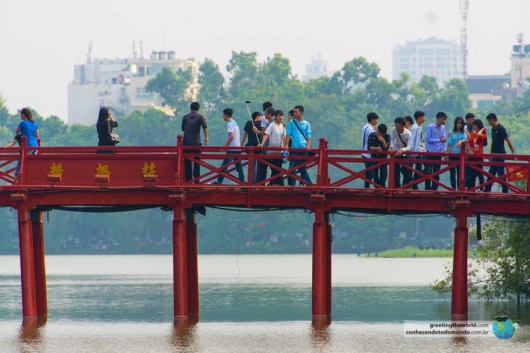 Bridge over lake Hoan Kiem, Hanoi