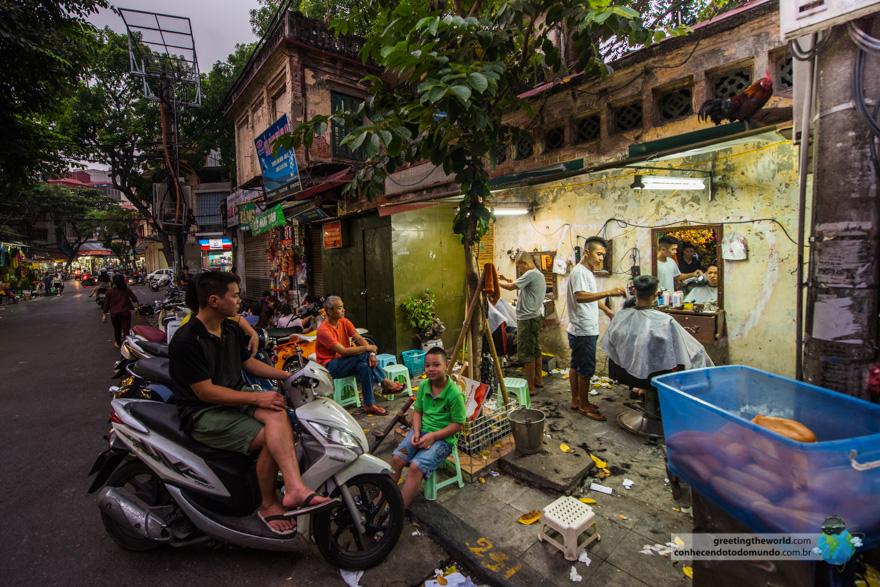 Barbershop in Hanoi, Vietnam