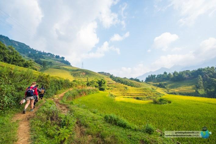 View to Sa Pa village