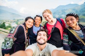 Lili, Chee e Ya guiaram a gente pelas trilhas mais incríveis de Sapa, no Vietnã.