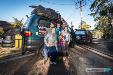 Ant, Amanda e seus dois filhos nos receberam em casa durante o pós-operatório do Alex.