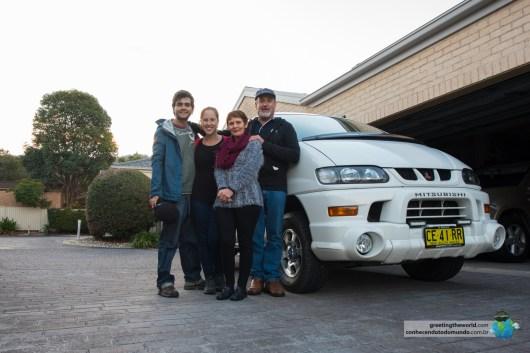 Brian e Viv também nos receberam em casa nos dias antes da Vanda embarcar no navio para os EUA.