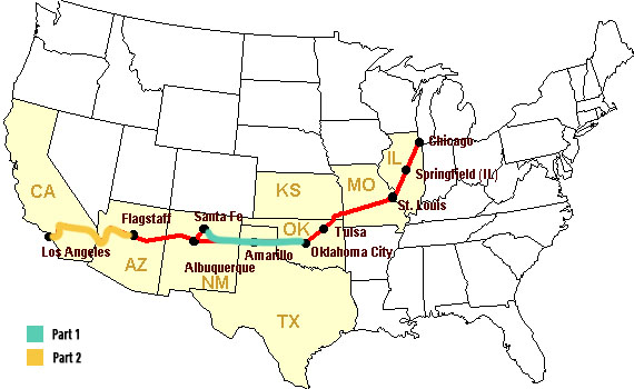 Authentic Route Part Oklahoma City To Sante Fe Overland Way - Santa fe on us map