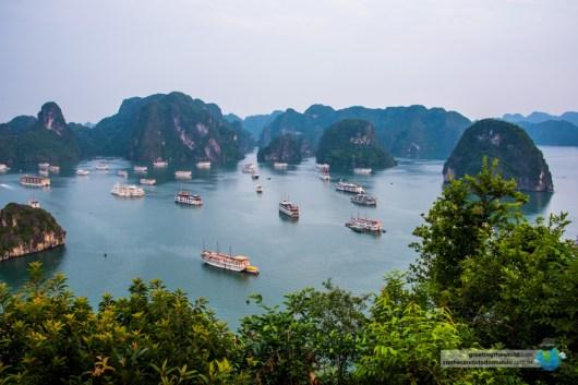Cruising Halong Bay, Vietnam.