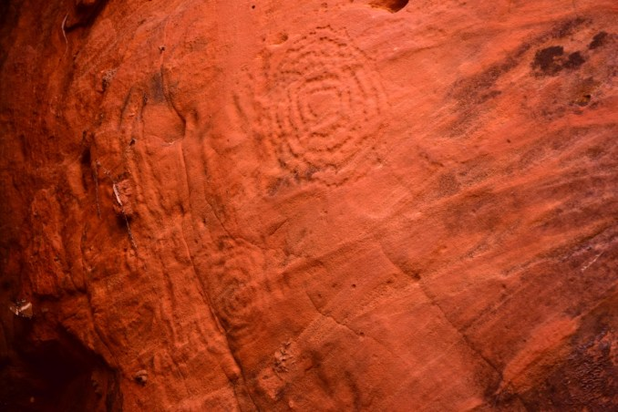 circles in sandstone