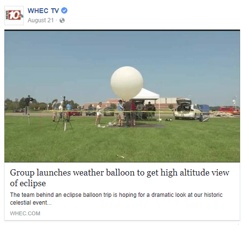 Group launches weather balloon to get high altitude view of eclipse