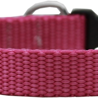 Raspberry Nylon Collar - Adjustable