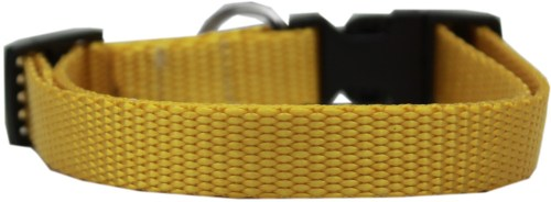 Yellow Nylon Collar - Adjustable