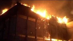 Fire in chappal factory